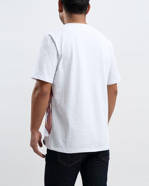 BIG AND TALL BP BEACH BUM LOGO TEE-COLOR: WHITE
