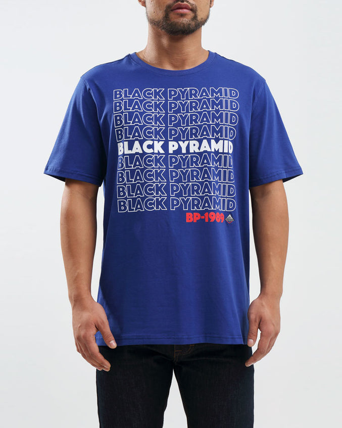 BP REPEAT TEXT TEE-COLOR: PURPLE