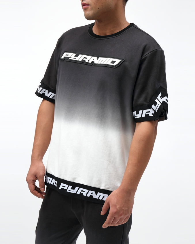 DIP DYE PASTEL SHOOTING JERSEY - Color: BLACK