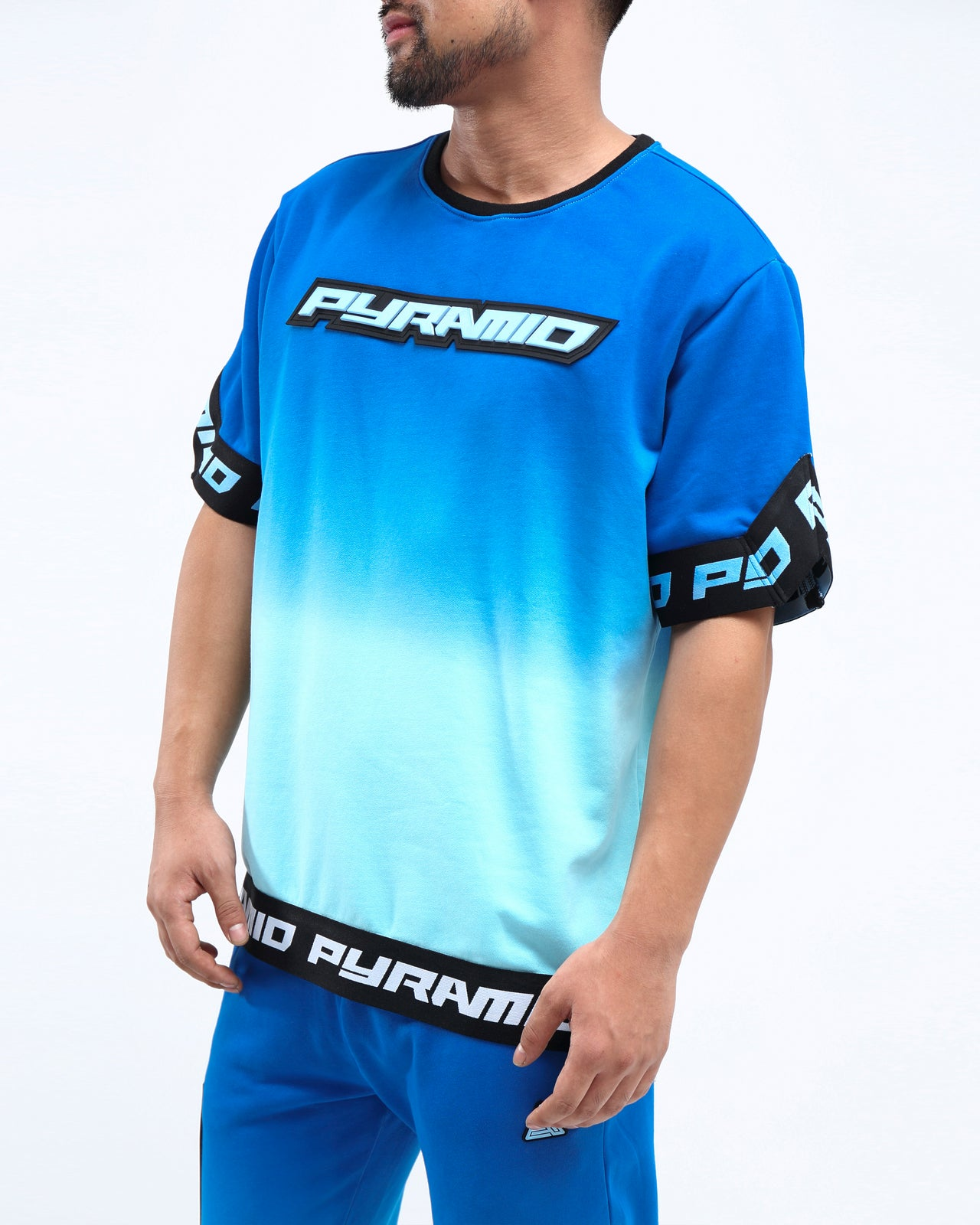 DIP DYE PASTEL SHOOTING JERSEY - Color: BLUE