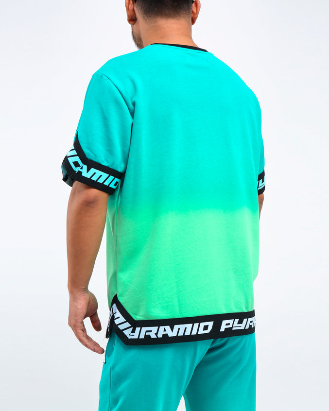 DIP DYE PASTEL SHOOTING JERSEY - Color: GREEN