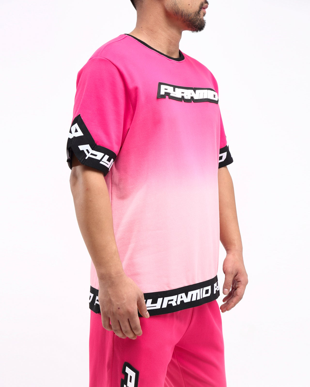 DIP DYE PASTEL SHOOTING JERSEY - Color: PINK