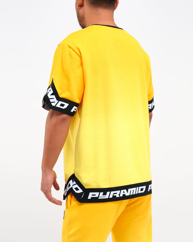DIP DYE PASTEL SHOOTING JERSEY - Color: YELLOW