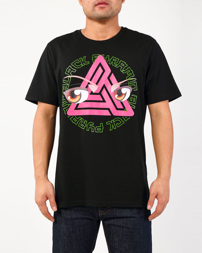STONED EYES GITD LOGO SHIRT-COLOR: BLACK