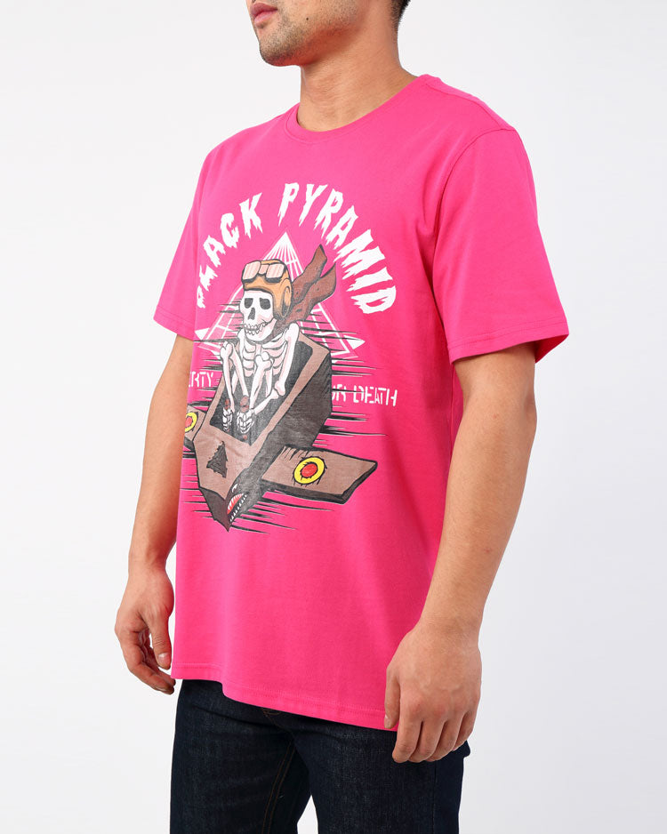 KAMIKAZE BONES SHIRT-COLOR: PINK