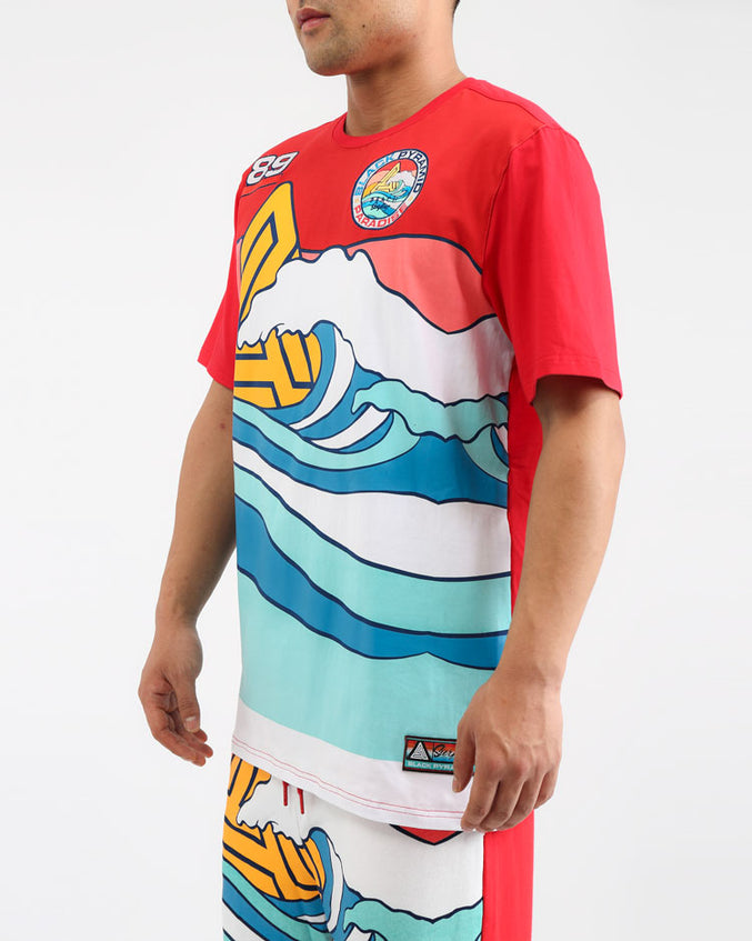 SURF PARADISE WAVE SHIRT-COLOR: MULTI COLOR