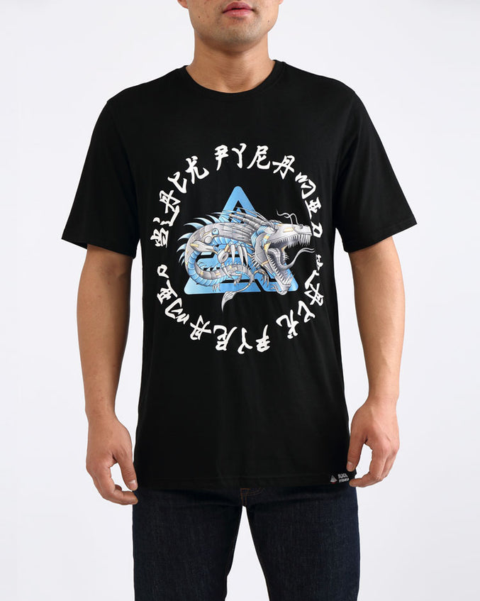 CYBORG DRAGON TEE-COLOR: BLACK