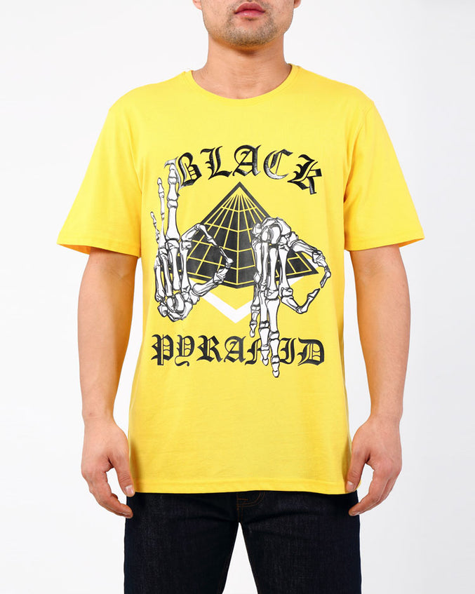 SKELETON SIGNS TEE-COLOR: YELLOW