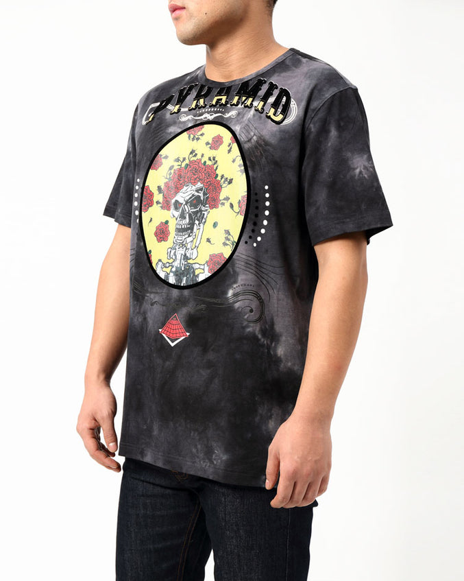 TIE DYE CIRCUS SHIRT-COLOR: GRAY