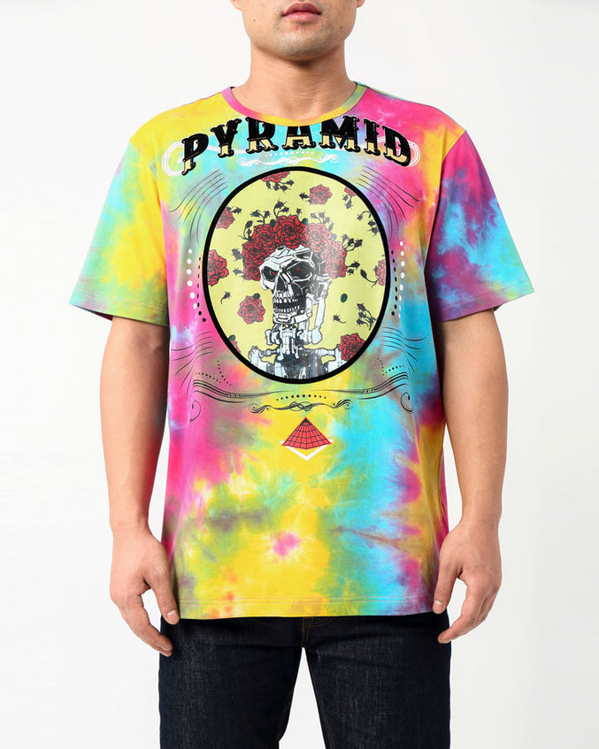 TIE DYE CIRCUS SHIRT-COLOR: MULTI COLOR
