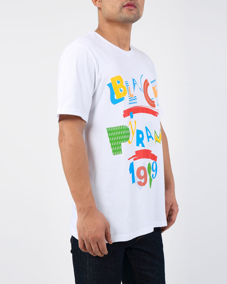 BP LIVING TEE-COLOR: WHITE