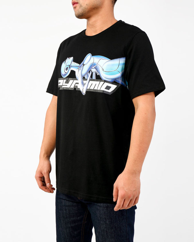 LAYBACK CYBORG TEE-COLOR: BLACK