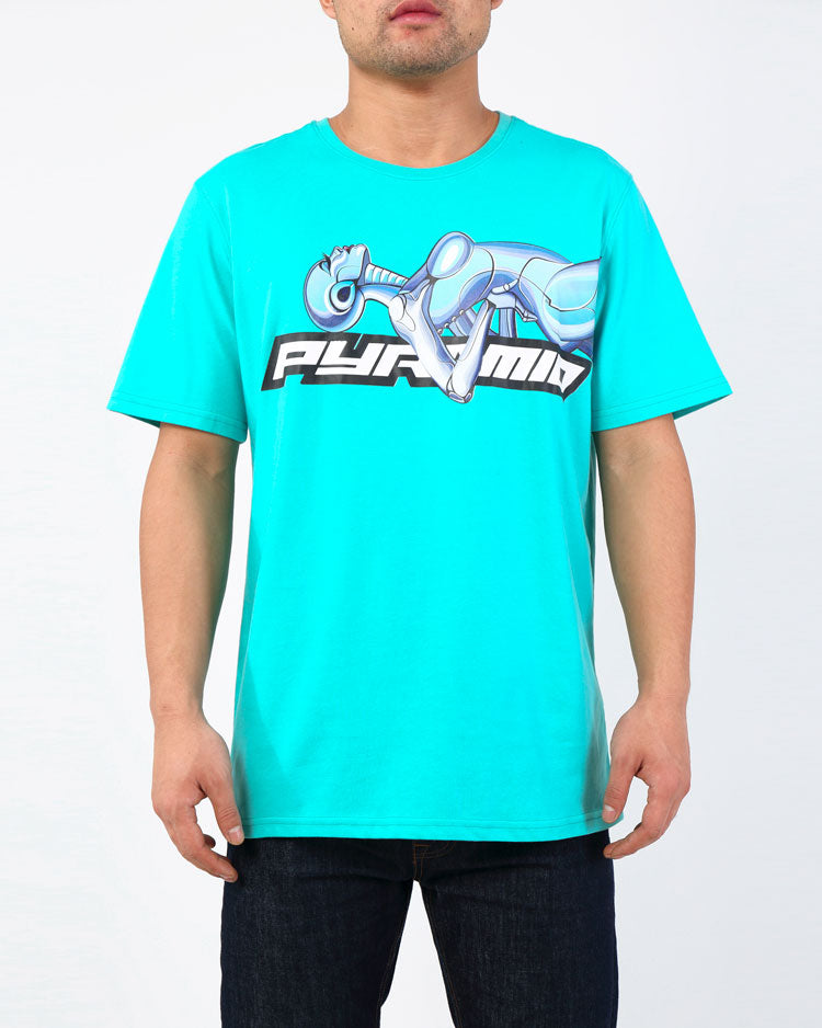 LAYBACK CYBORG TEE-COLOR: MINT