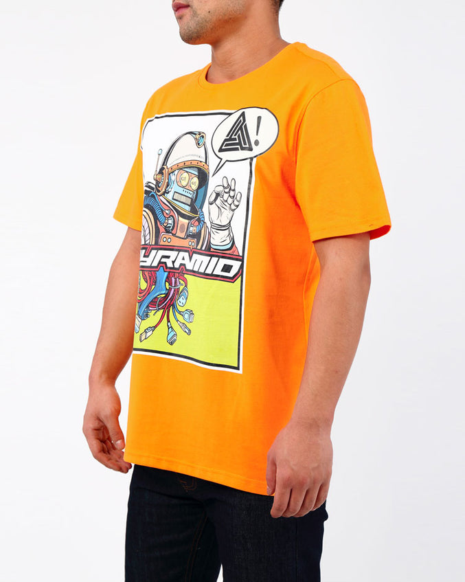 PERFECTO ROBO TEE-COLOR: ORANGE