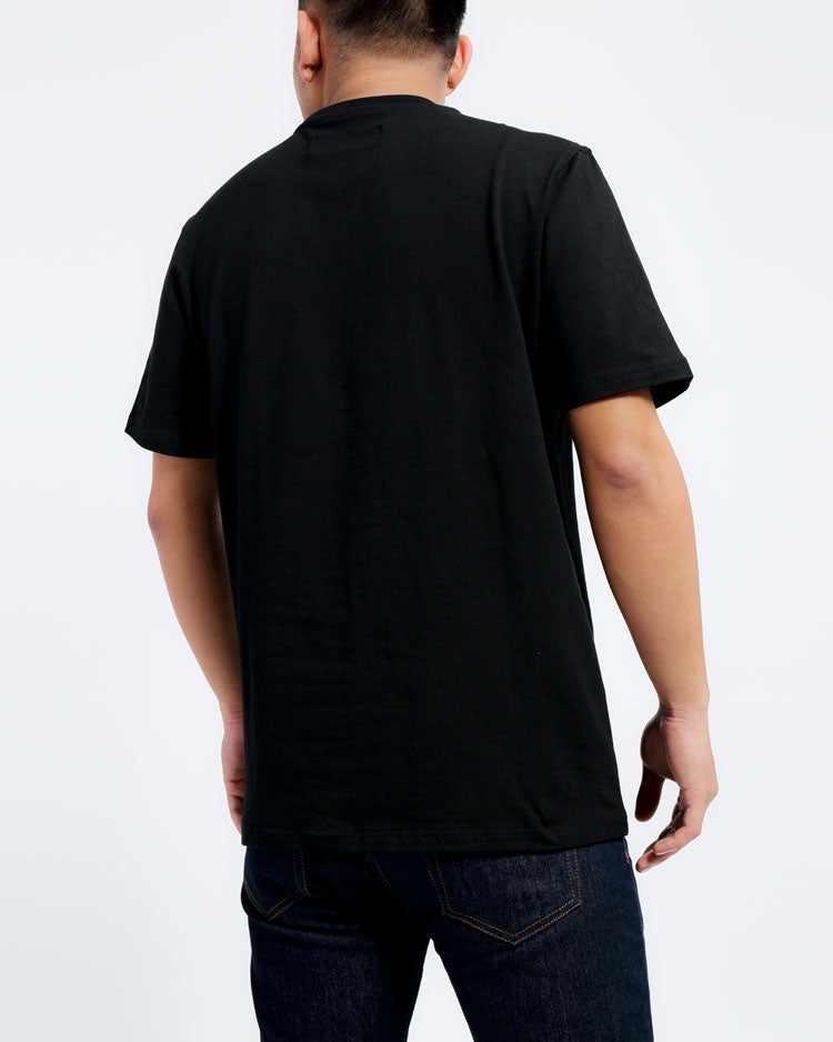 CONTRAST TIE DYE SHIRT-COLOR: BLACK
