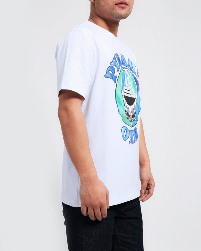 CONTRAST TIE DYE SHIRT-COLOR: WHITE