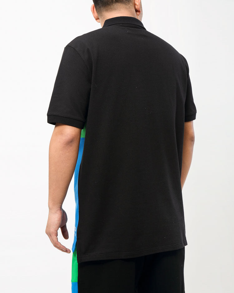 BIG AND TALL COLOR PALETTE POLO-COLOR: BLACK