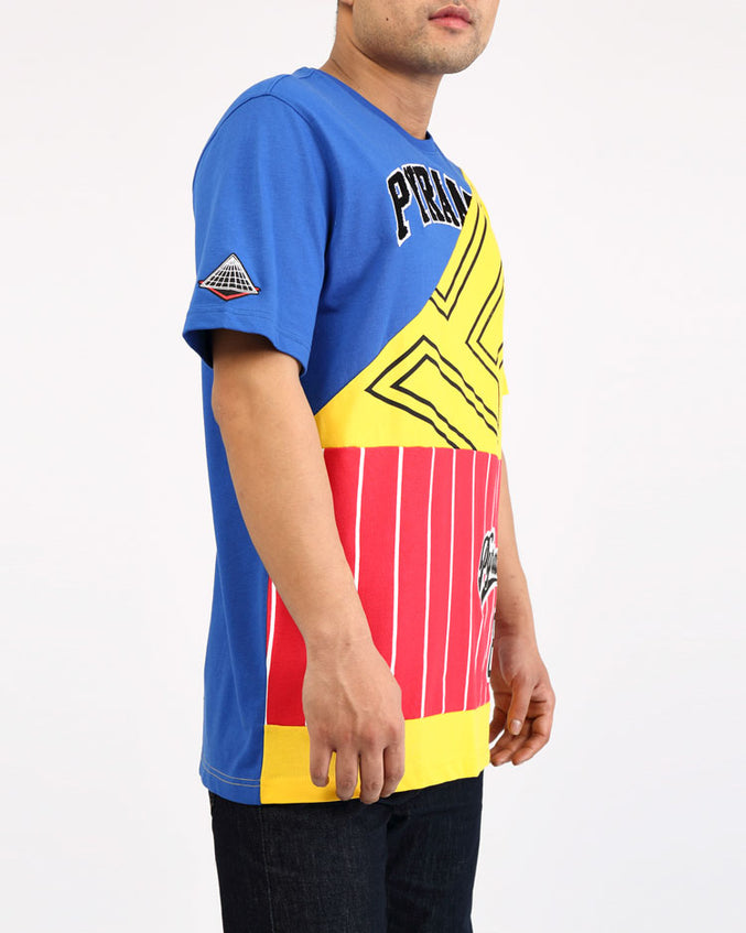 BBALL MASH UP SHIRT-COLOR: MULTI COLOR