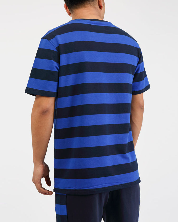 BIG AND TALL GAME STRIPE SHIRT-COLOR: ROYAL BLUE