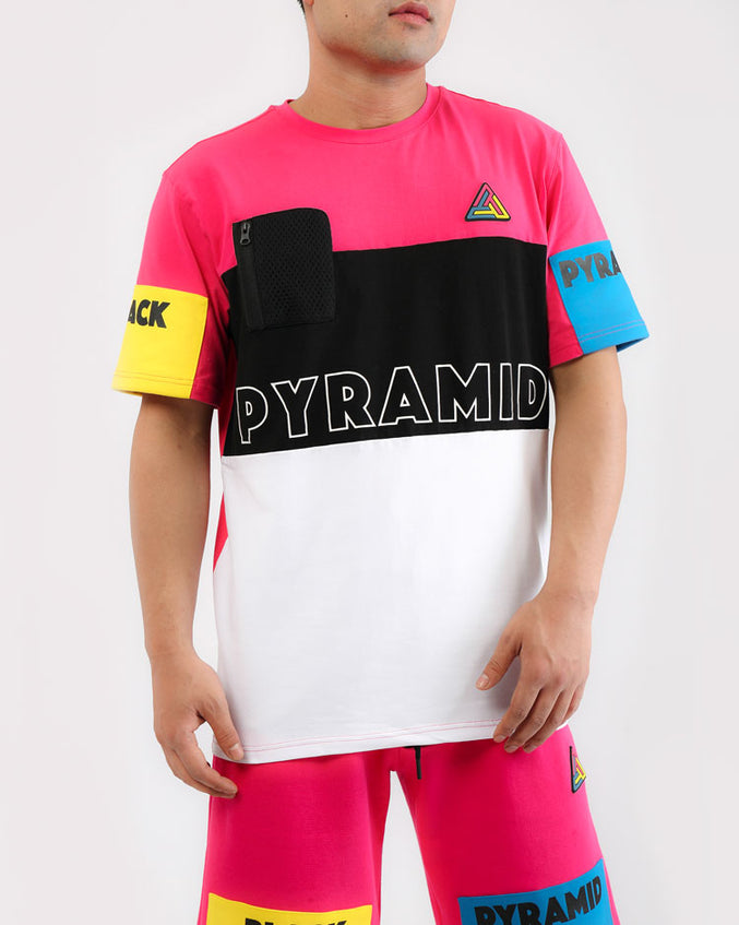 BLOCKS SHIRT-COLOR: PINK