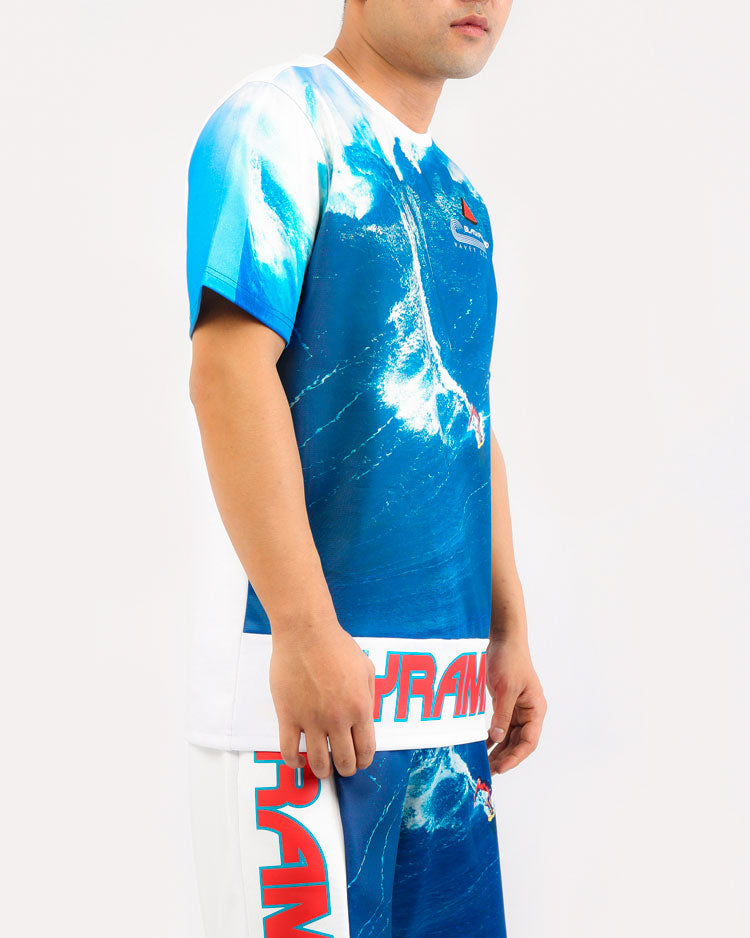 BIG WAVE SHIRT-COLOR: BLUE