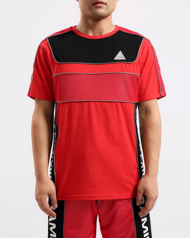 BIG AND TALL USA REFLECTIVE SHIRT-COLOR: RED