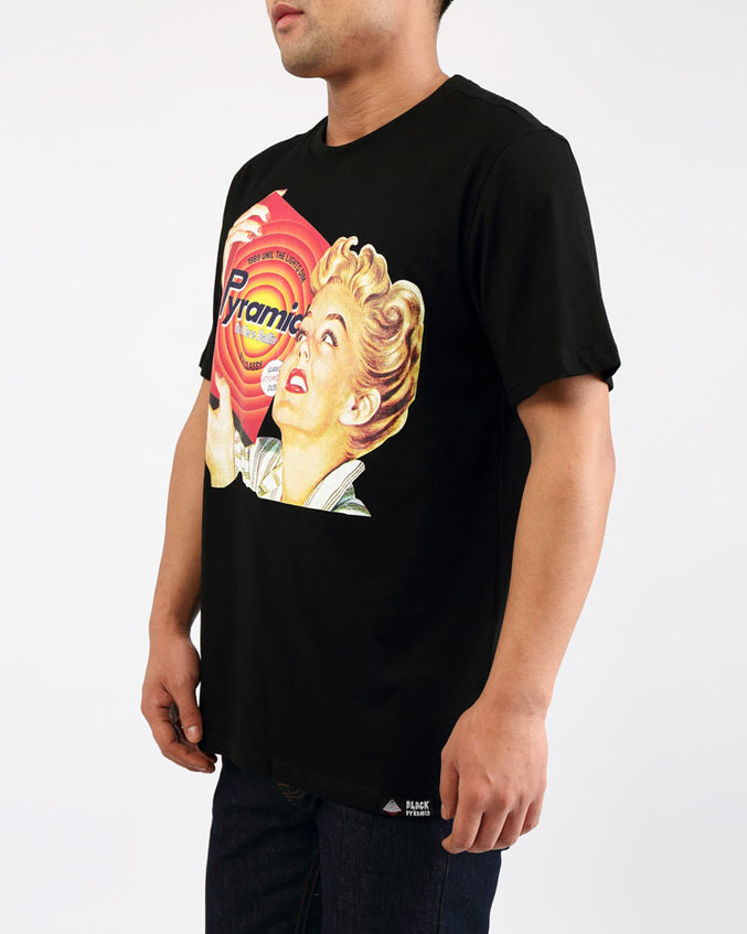 BIG AND TALL VINTAGE AD FRESH CLEAN TEE-COLOR: BLACK