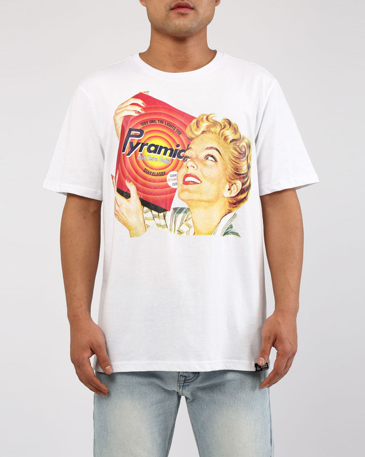 VINTAGE AD FRESH CLEAN SHIRT-COLOR: WHITE