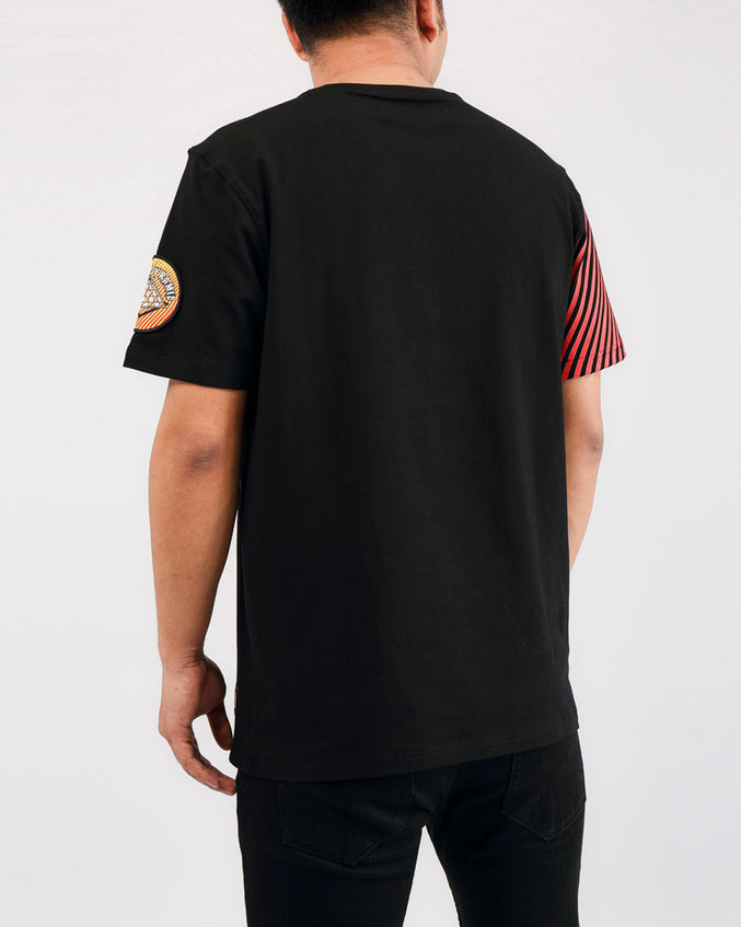 PSYCHEDELIC DRIP SHIRT-COLOR:  BLACK