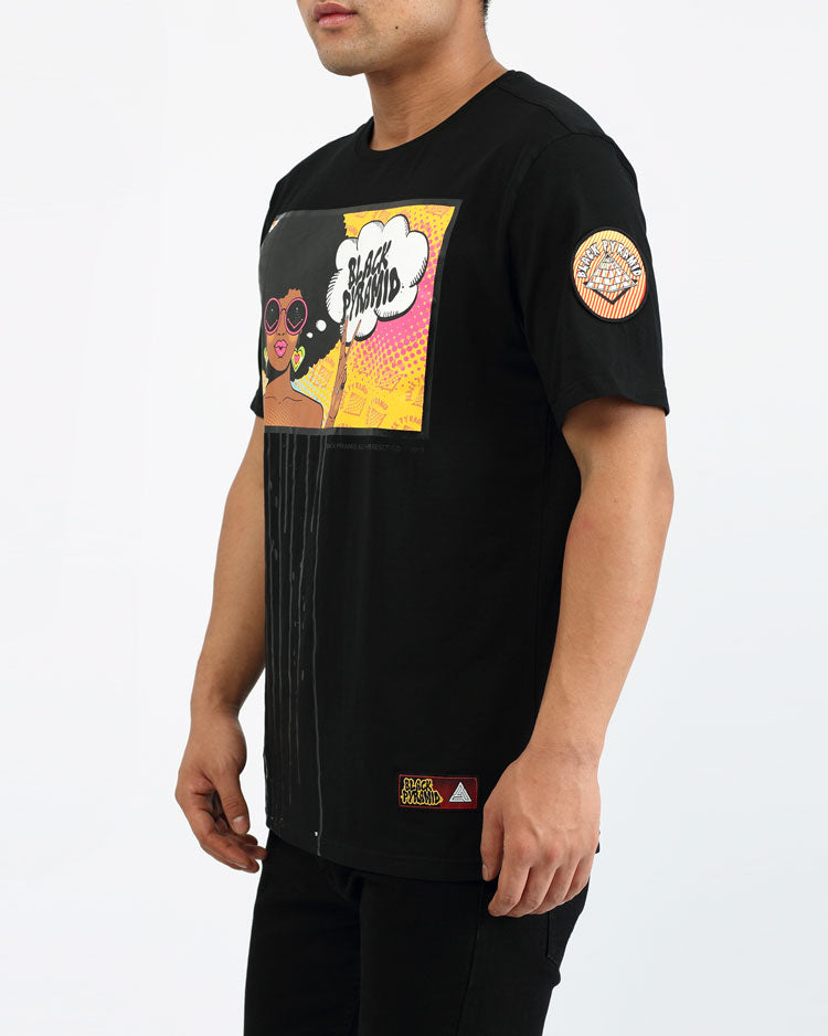 BIG AND TALL HIPPY DRIP SHIRT-COLOR: BLACK