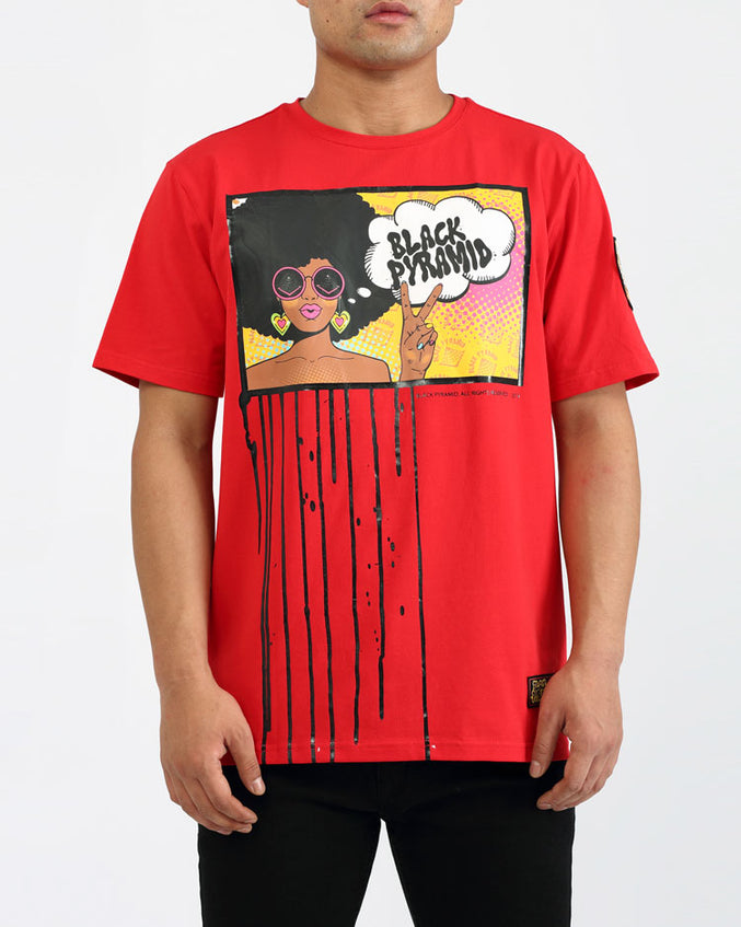BIG AND TALL HIPPY DRIP SHIRT-COLOR: RED