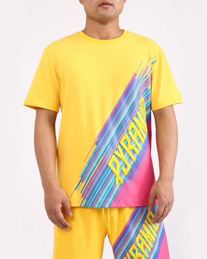 GEO BLAST SHIRT-COLOR: YELLOW