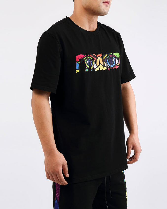 BIG AND TALL BRITTO EYES LOGO SHIRT-COLOR: BLACK