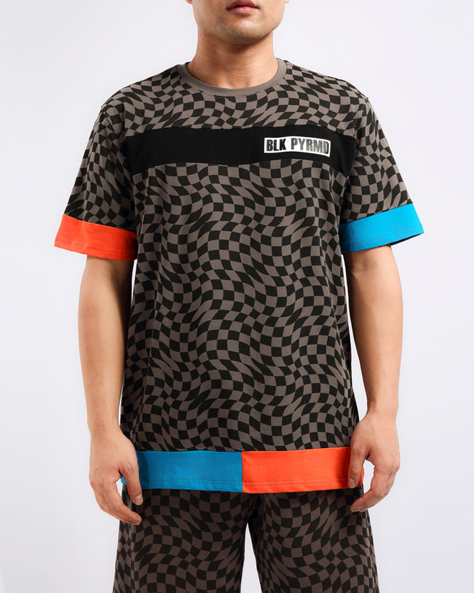 OPTICAL SHIRT-COLOR: BLACK