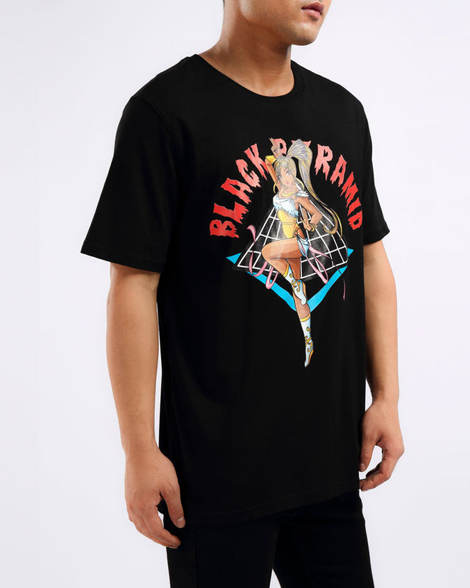 ANIME DANCER GIRL SHIRT-COLOR: BLACK