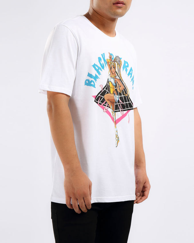 ANIME DANCER GIRL SHIRT-COLOR: WHITE