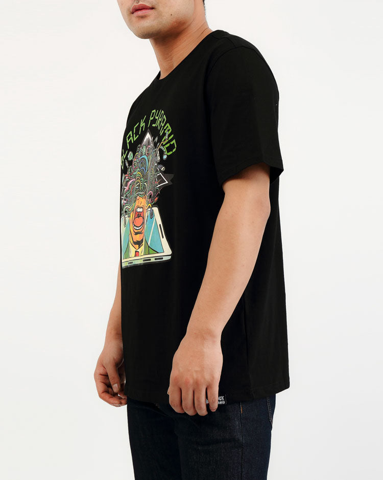 BIG AND TALL TECH OVERLOAD TEE-COLOR: BLACK