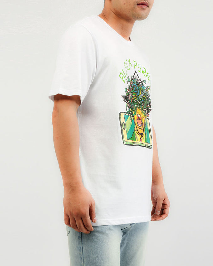 BIG AND TALL TECH OVERLOAD TEE-COLOR: WHITE