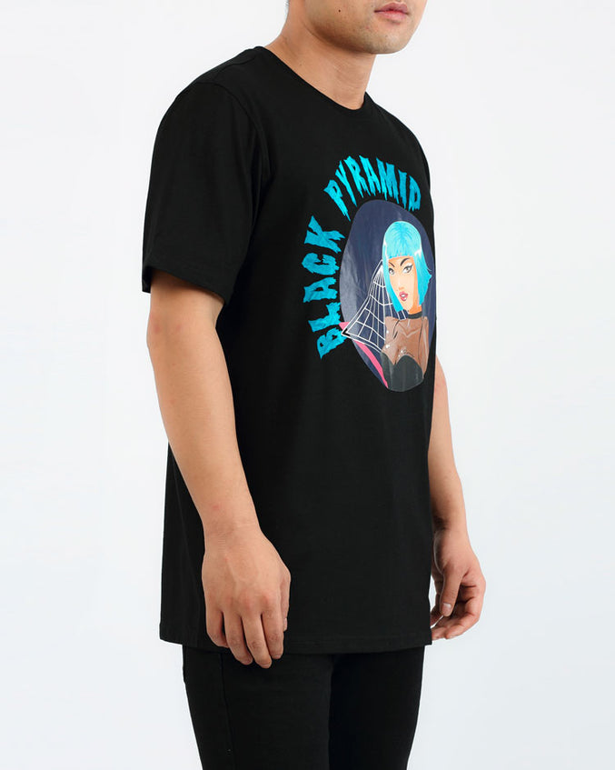 BLUE WIG DRIP SHIRT-COLOR: BLACK