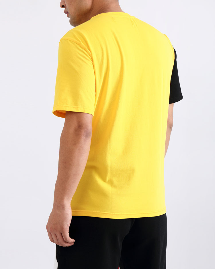 CRISS CROSS BLOCKED SHIRT-COLOR: YELLOW