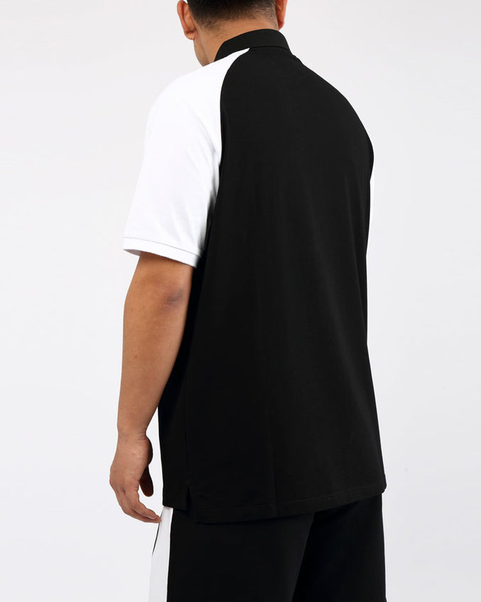 BIG AND TALL CLEAN BLOCK POLO SHIRT-COLOR: BLACK