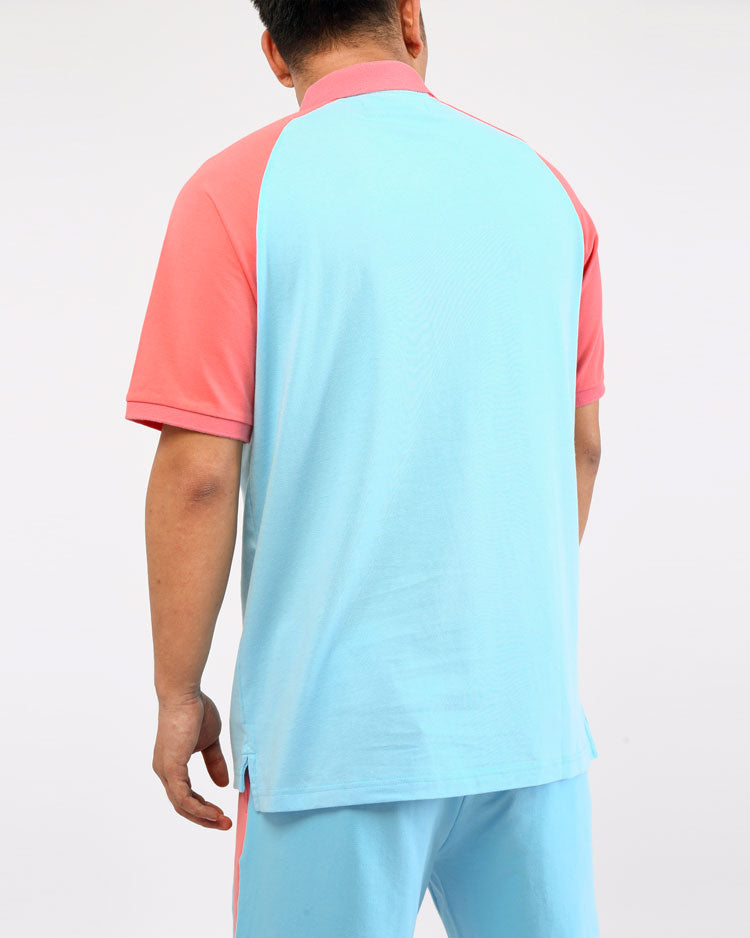 BIG AND TALL CLEAN BLOCK POLO SHIRT-COLOR: BLUE