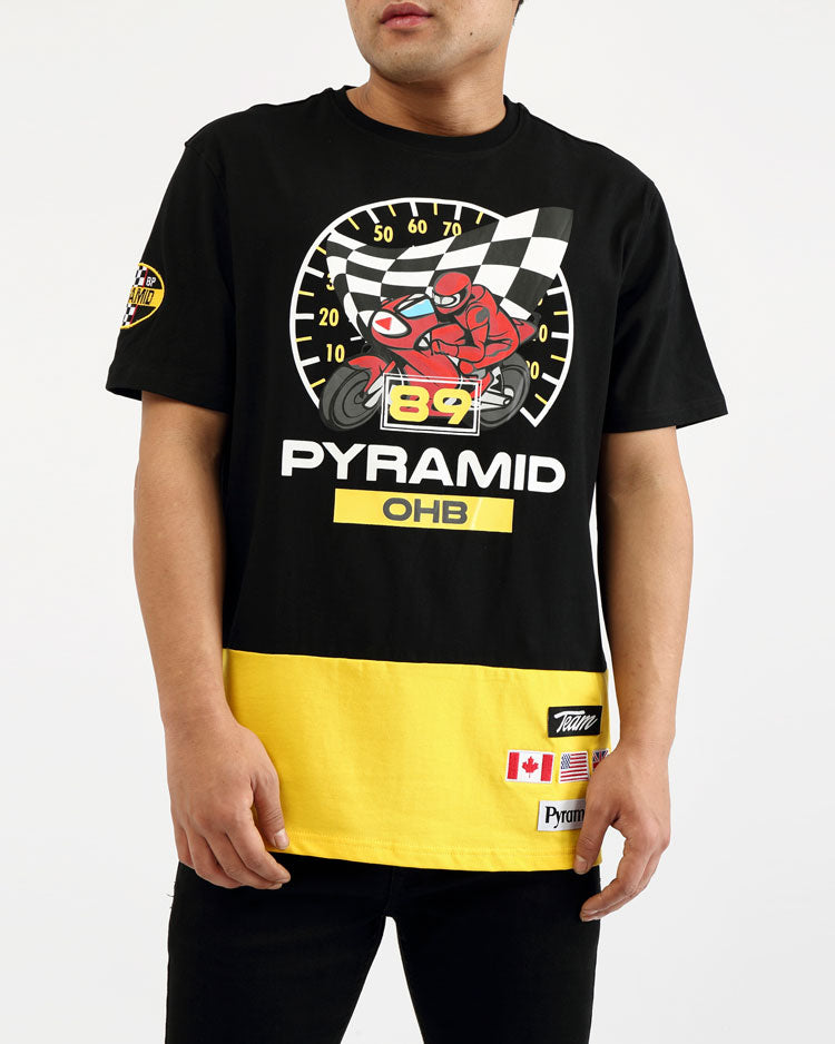 BIG AND TALL 89 RACE SPEEDOMETER SHIRT-COLOR: BLACK