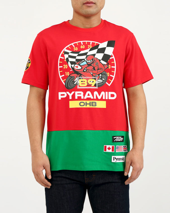 BIG AND TALL 89 RACE SPEEDOMETER SHIRT-COLOR: RED