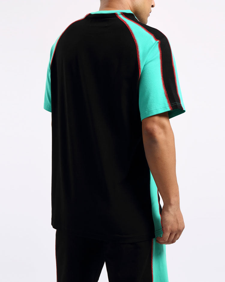 REVERSE TERRY SPORT SHIRT-COLOR: BLACK