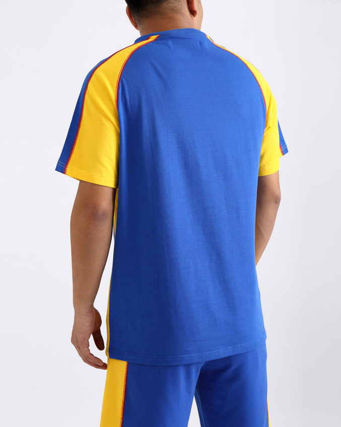 REVERSE TERRY SPORT SHIRT-COLOR: BLUE