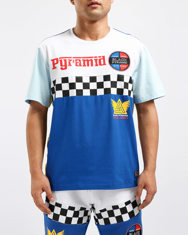 VINTAGE SPEED RACER SHIRT-COLOR: BLUE