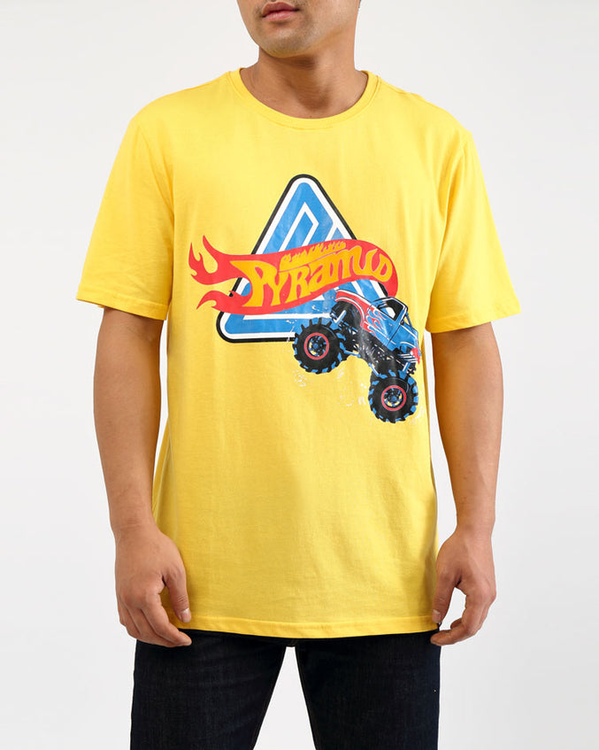 MONSTER WHEEL SHIRT-COLOR: YELLOW