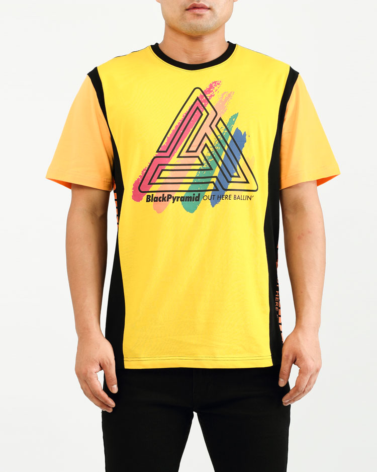 PAINT STREAKS OHB SHIRT-COLOR: YELLOW