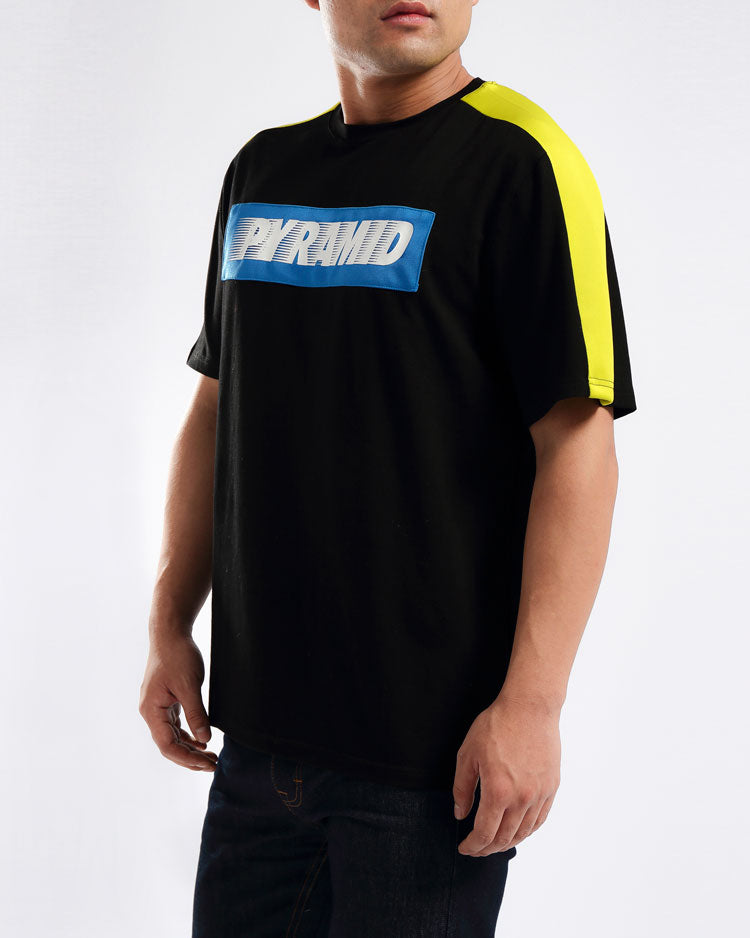 SPEED PIECED SHIRT-COLOR: BLACK